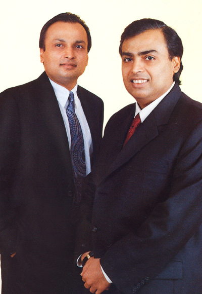 Anil Ambani (left) and Mukeh Ambani.