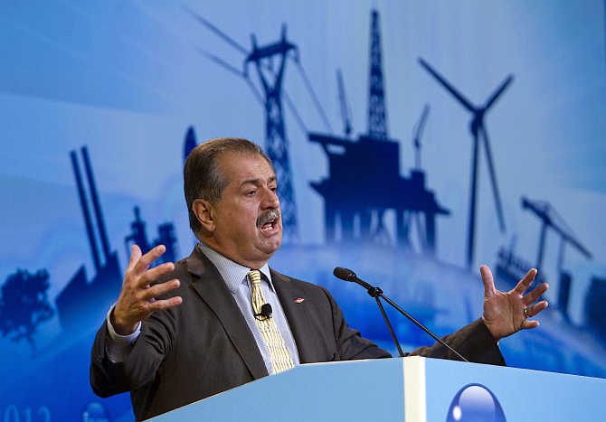 Andrew Liveris in Houston, Texas.