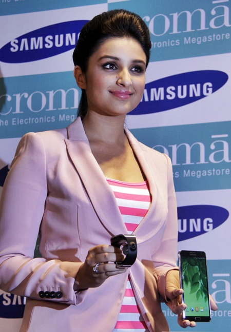 Parineeti Chopra at the launch of Samsung Galaxy Note III and Galaxy Gear.