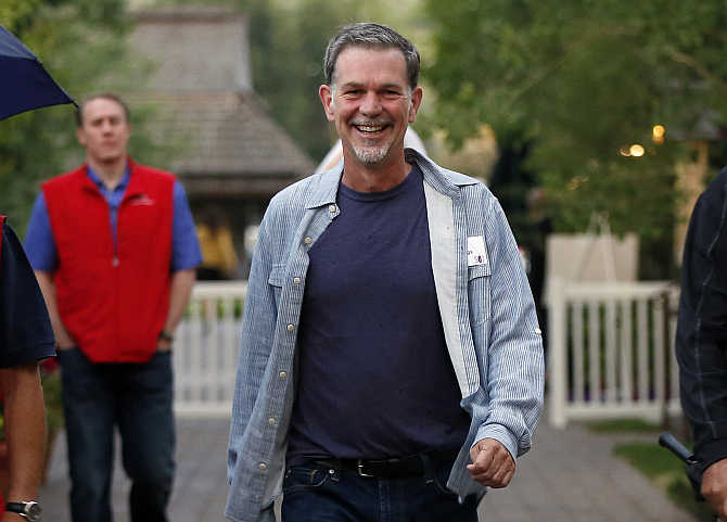 Reed Hastings attends the Allen & Co Media Conference in Sun Valley, Idaho, United States.