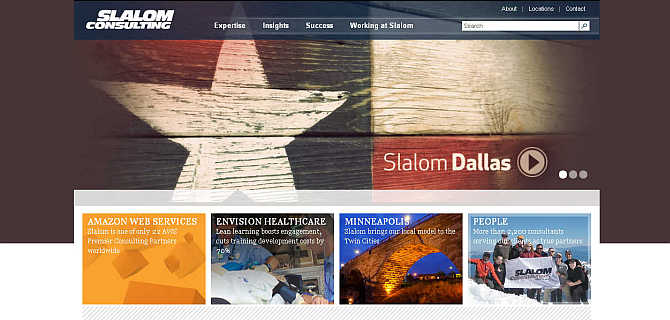 Homepage of Slalom Consulting website.