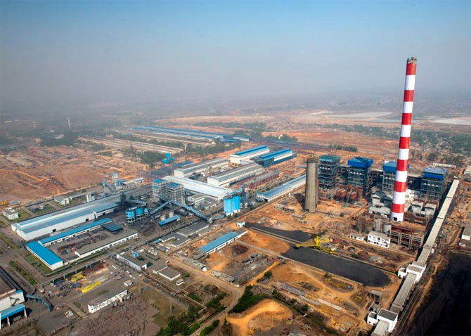 An aerial view of the Balco plant at Korba.