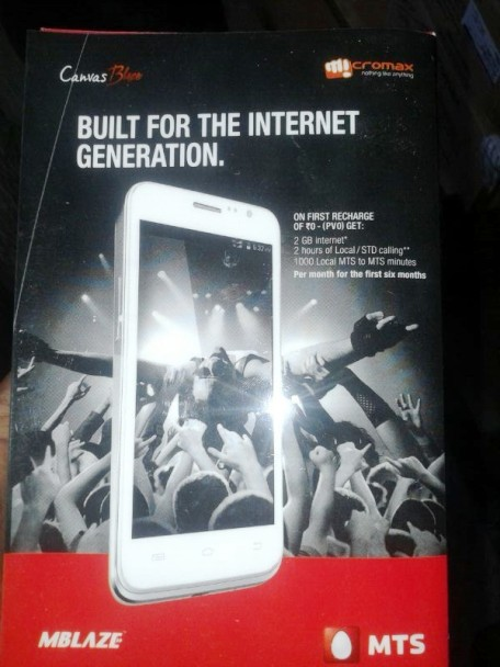 Micromax launches Canvas Blaze smartphone @ Rs 11,000