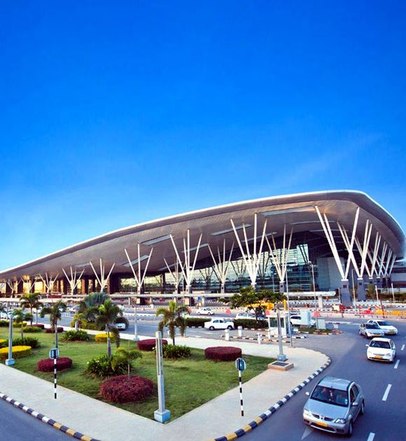 New terminal at Kempegowda International Airport, Bangalore.