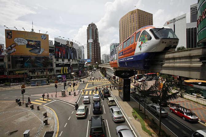 A view of downtown Kuala Lumpur, capital of Malaysia.