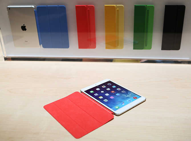 iPad Air on display during an Apple event in San Francisco, California.