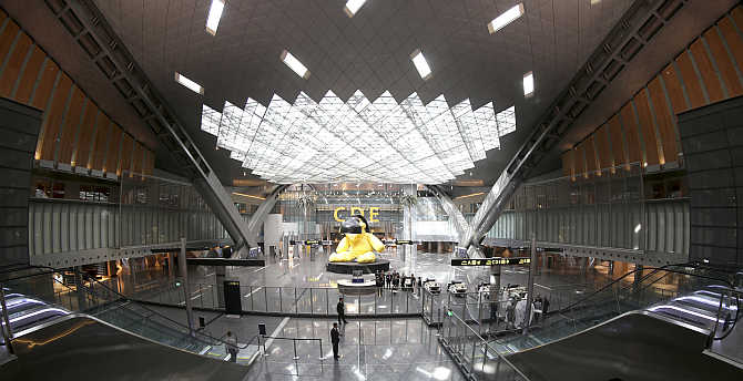 A view of Hamad International airport in Doha.