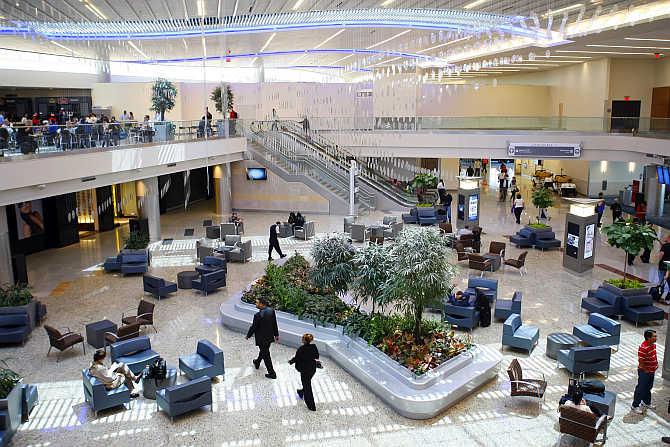 A view of Maynard H Jackson Jr. International Terminal at Hartsfield-Jackson Atlanta International Airport in Atlanta, Georgia.