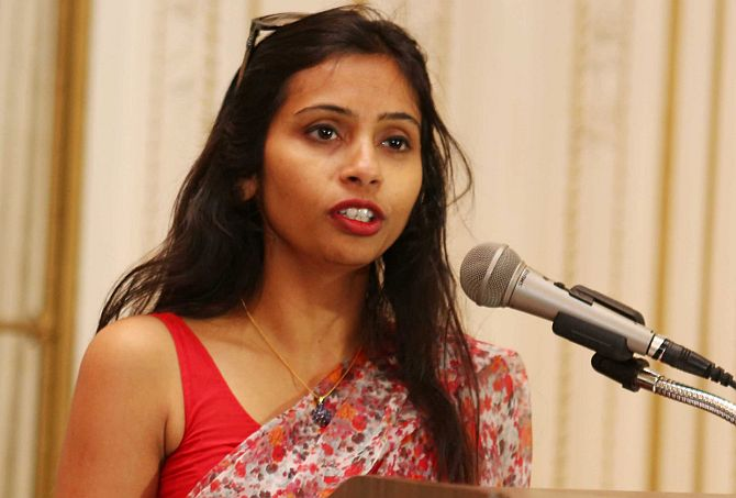 India's Deputy Consul General in New York, Devyani Khobragade, attends a Rutgers University event at India's Consulate General in New York.
