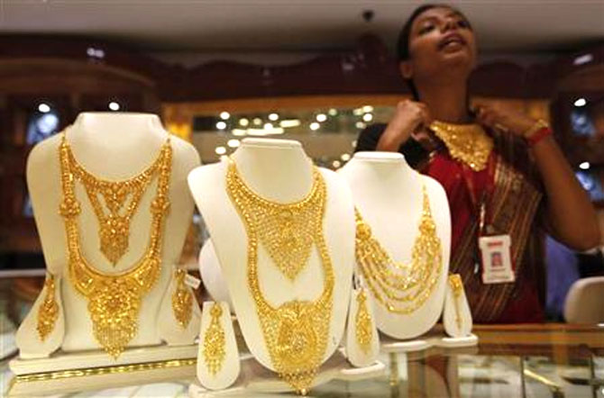 India primarily imports gold jewellery from West Asian countries.