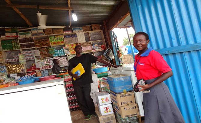 A shop in South Sudan.