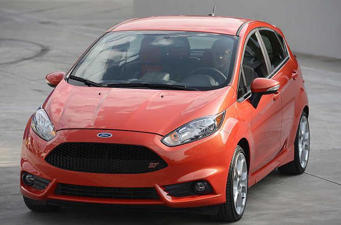Ford Fiesta on display in Los Angeles.
