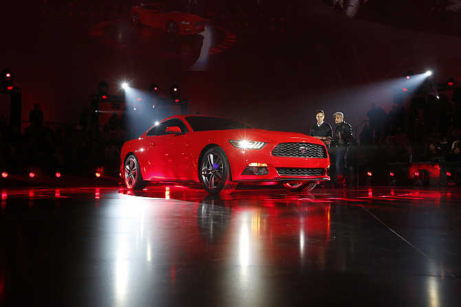 Ford Mustang on display in Shanghai.