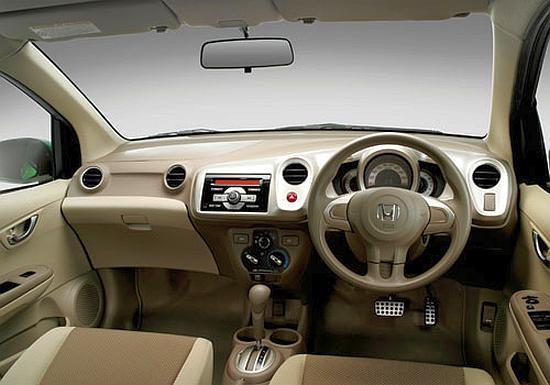 Interior of Honda Amaze.