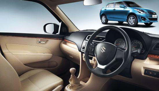 Interior of Dzire.