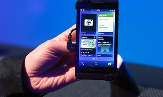 The new Blackberry 10 device.