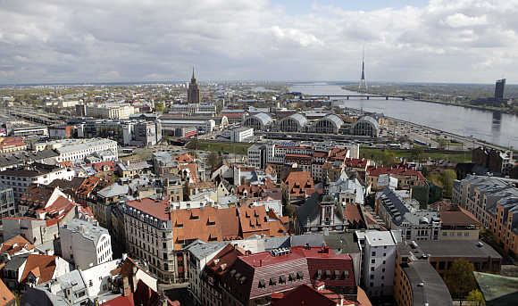 A view of Old City in Riga.