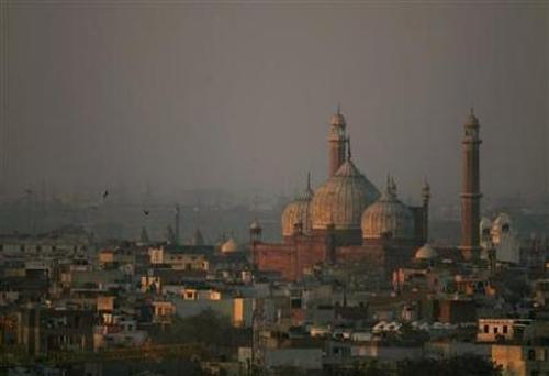 A view of the Jama Masjid.