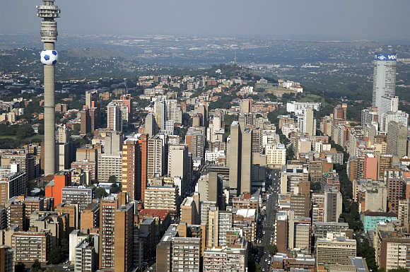 Cityscape of Johannesburg.