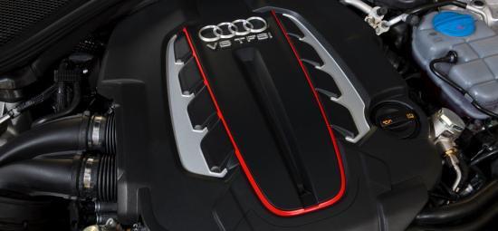 Audi S6's V8 TFSI engine.