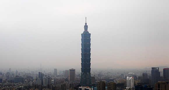 Taipei 101 building in Taipei, Taiwan.