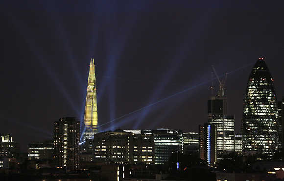 A view of the Shard building in central London.