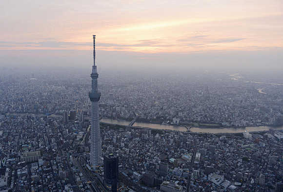 A view of Tokyo Skytree.
