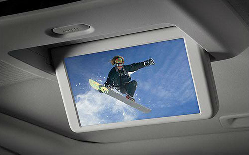 An available 7 DVD Rear Entertainment System comes with a pair of wireless headphones, and is bound to keep rear-seat passengers happy.