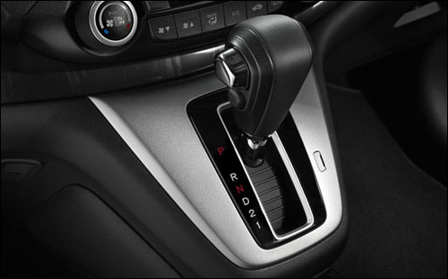 The 5-speed automatic transmission is front-and-center in the 2013 CR-V.