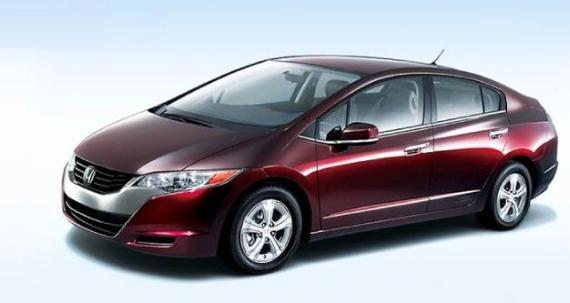 Honda FCX Clarity, a hydrogen fuel cell car.