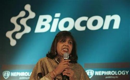 Kiran Mazumdar-Shaw, managing director of Biocon Ltd.