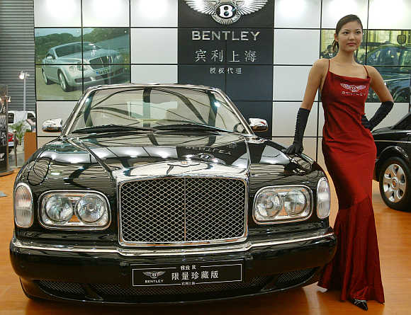 A Bentley luxury car in Shanghai, China. Photo is for representatio