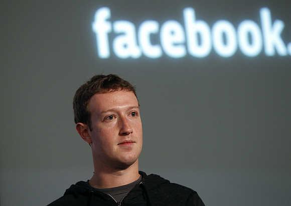 Mark Zuckerberg in Menlo Park, California.