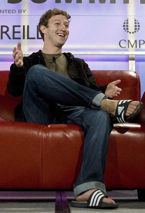 Mark Zuckerberg at the Web 2.0 summit in San Francisco, California.