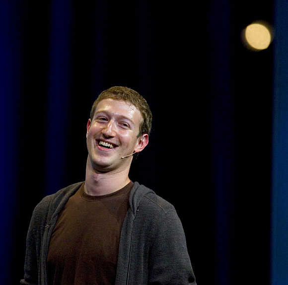 Mark Zuckerberg delivers a keynote address at the company's annual conference in San Francisco, California.