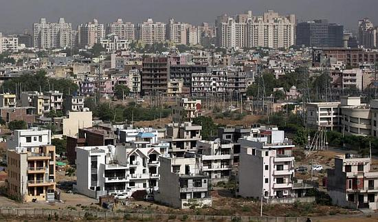 A general view of the residential apartments pictured at Gurgaon.