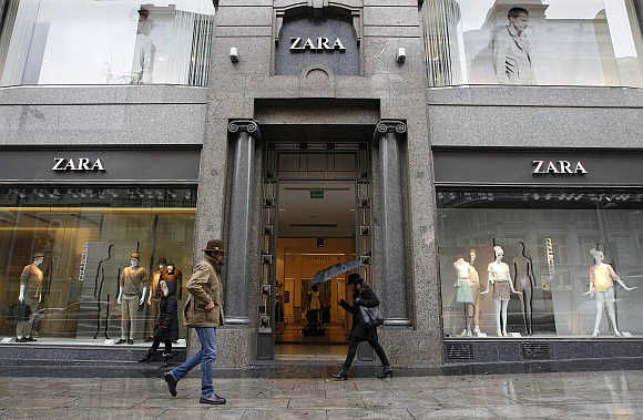 A Zara store in central Madrid.