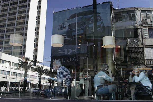 A cafe in Tel Aviv.