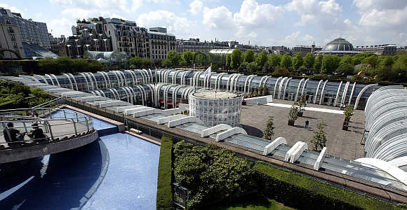 Forum des Halles shopping mall complex in central Paris.