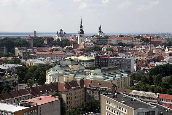 View of Estonia's capital Tallinn.