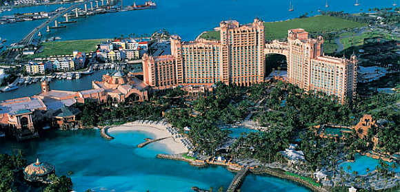 Atlantis in Bahamas.