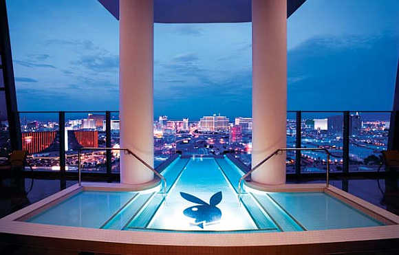 Hugh Hefner Sky Villa at Palm Resorts in Las Vegas.