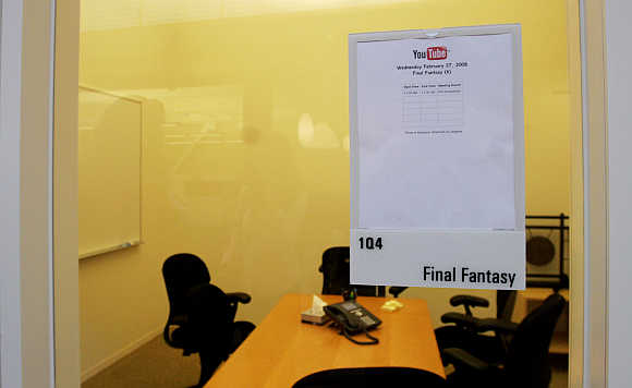 A conference room at the YouTube headquarters in San Bruno, California.