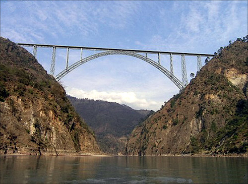 Chenab bridge.