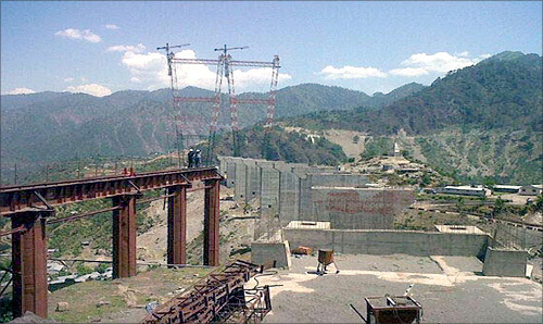 Construction at the site.