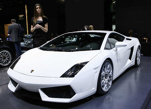 Lamborghini Gallardo LP 560-4 in Geneva, Switzerland.