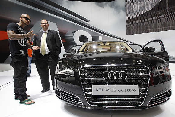 Audi A8 L W12 quattro in Moscow.