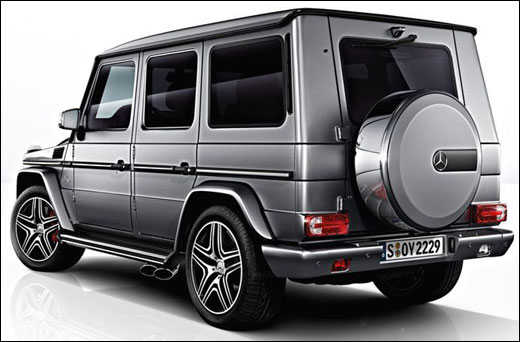 The rear view of G63 AMG.