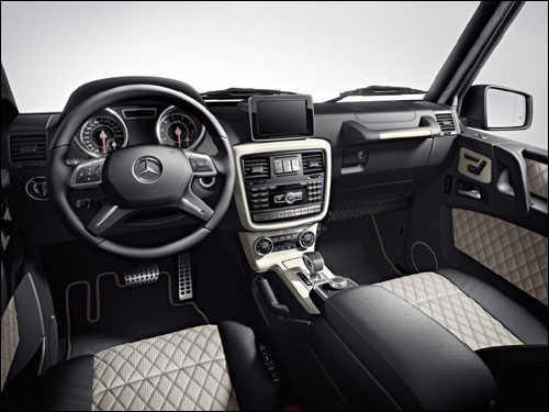 An inside view of G63 AMG.