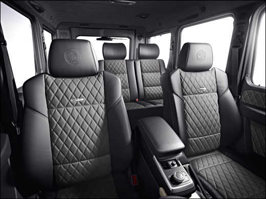 The luxurious seats of G63 AMG.